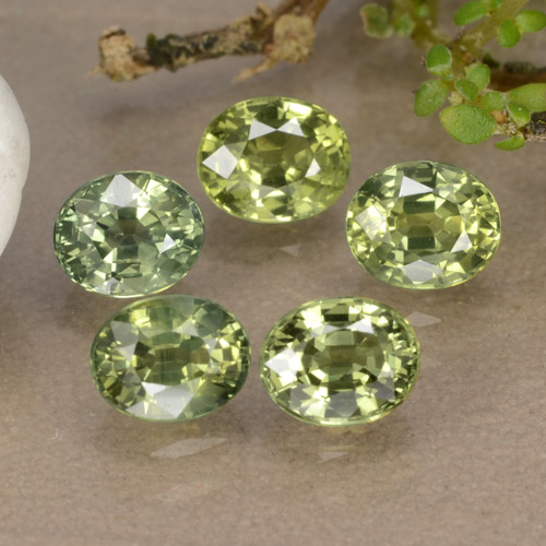 Multi Green Sapphire Gem - 0.6ct Oval Facet (ID: 315721)