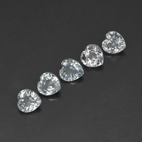 Light Bluish White Sapphire Gem - 0.3ct Heart Facet (ID: 316416)