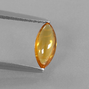 Buy 0.74 ct Yellow Orange Sapphire 8.72 mm x 4 mm from GemSelect (Product ID: 319807)