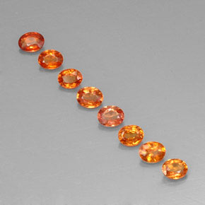 Yellow Orange Sapphire Gem - 0.2ct Oval Facet (ID: 321786)