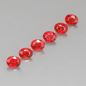 Red Orange Sapphire Gem - 0.3ct Oval Facet (ID: 324581)