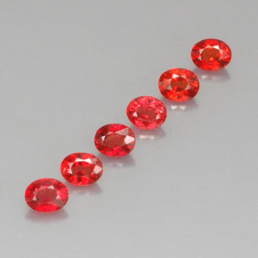 Bright Red Zaffiro Gem - 0.3ct Ovale sfaccettato (ID: 324583)