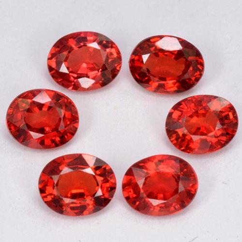 Red Orange Sapphire Gem - 0.3ct Oval Facet (ID: 324947)