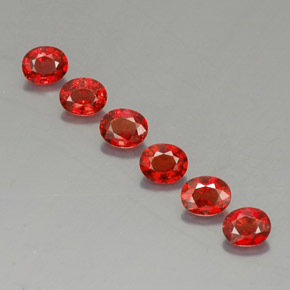 Red Orange Sapphire Gem - 0.4ct Oval Facet (ID: 324954)