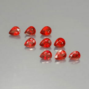 Bright Red Sapphire Gem - 0.3ct Pear Facet (ID: 325045)