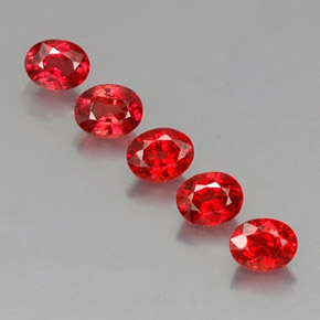 Red Orange Sapphire Gem - 0.3ct Oval Facet (ID: 325069)