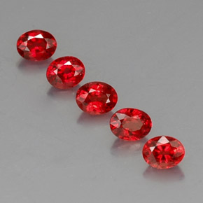 Red Orange Sapphire Gem - 0.4ct Oval Facet (ID: 325070)