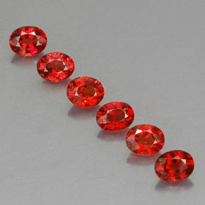 Red Orange Sapphire Gem - 0.3ct Oval Facet (ID: 325073)