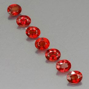 Red Orange Sapphire Gem - 0.4ct Oval Facet (ID: 325078)