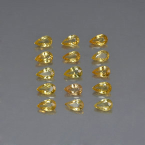 Yellow Golden Sapphire Gem - 0.3ct Pear Facet (ID: 325166)