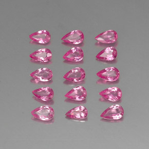 Pink Sapphire Gem - 0.2ct Pear Facet (ID: 325439)