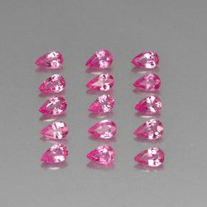 Pink Sapphire Gem - 0.3ct Pear Facet (ID: 325446)
