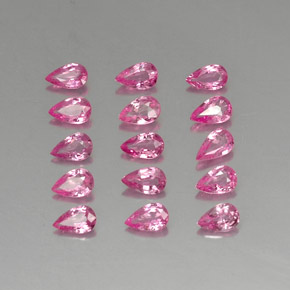 Pink Sapphire Gem - 0.2ct Pear Facet (ID: 325447)