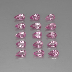 Very Light Royal Purple Pink Sapphire Gem - 0.3ct Pear Facet (ID: 326176)