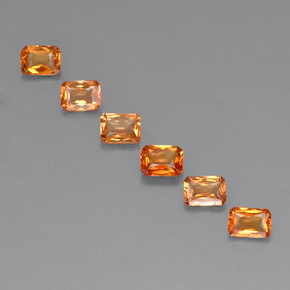 Orange Sapphire Gem - 0.2ct Octagon / Scissor Cut (ID: 330428)