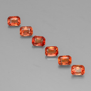 Red Orange Sapphire Gem - 0.3ct Octagon / Scissor Cut (ID: 330499)