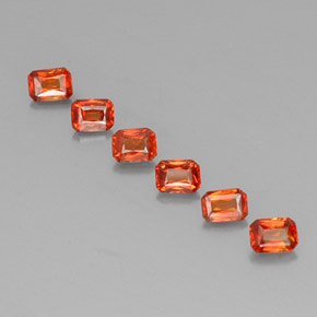Red Orange Sapphire Gem - 0.2ct Octagon / Scissor Cut (ID: 330505)