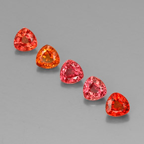Red Orange Sapphire Gem - 0.4ct Trillion Facet (ID: 330575)