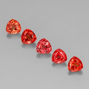 Red Orange Sapphire Gem - 0.4ct Trillion Facet (ID: 330715)