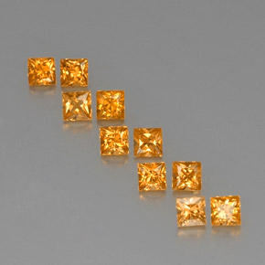 Yellow Golden Sapphire Gem - 0.2ct Princess-Cut (ID: 330811)