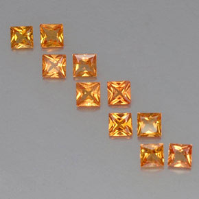 Medium Orange Sapphire Gem - 0.2ct Princess-Cut (ID: 330824)