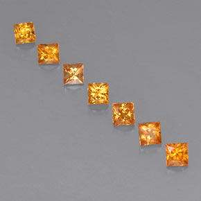 Deep Orange Sapphire Gem - 0.2ct Princess-Cut (ID: 330837)