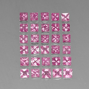 0.2ct Princess-Cut Medium Pink Sapphire Gem (ID: 334538)