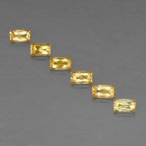 Yellow Golden Sapphire Gem - 0.4ct Octagon / Scissor Cut (ID: 335024)
