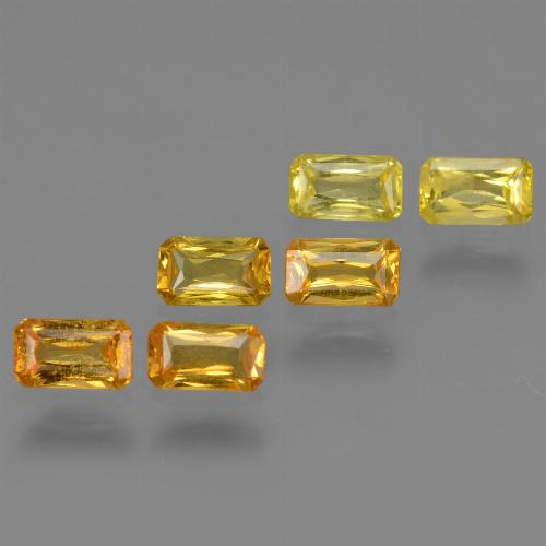 Medium-Light Orange-Gold  Zafiro Gema - 0.3ct Corte Octágon / Forma de Tijera (ID: 335029)