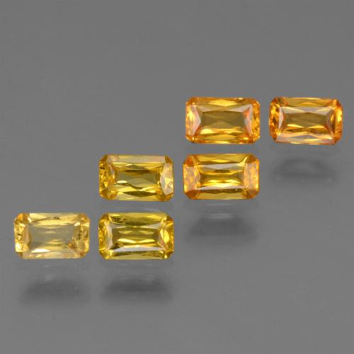 Yellow Golden Sapphire Gem - 0.3ct Octagon / Scissor Cut (ID: 335082)