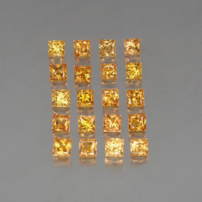 Yellow Golden Sapphire Gem - 0.2ct Princess-Cut (ID: 336156)