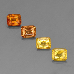 Yellow Orange Sapphire Gem - 0.5ct Octagon / Scissor Cut (ID: 336527)