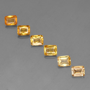 Yellow Golden Sapphire Gem - 0.6ct Octagon / Scissor Cut (ID: 336601)