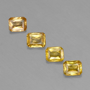 Yellow Golden Sapphire Gem - 0.5ct Octagon / Scissor Cut (ID: 337215)