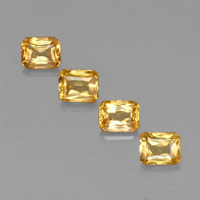 Yellow Golden Sapphire Gem - 0.6ct Octagon / Scissor Cut (ID: 337218)