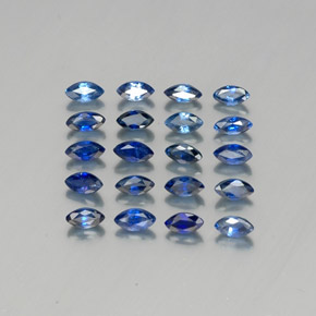 Blue Sapphire Gem - 0.2ct Marquise Facet (ID: 341256)