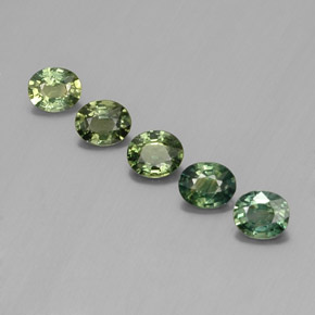 Multi Green Sapphire Gem - 0.4ct Oval Facet (ID: 342808)