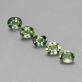Green Sapphire Gem - 0.5ct Oval Facet (ID: 342809)