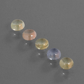 Multicolor Sapphire Gem - 0.5ct Round Cabochon (ID: 344655)
