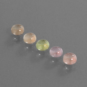 Multicolor Sapphire Gem - 0.4ct Round Cabochon (ID: 344672)