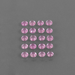 Very Light Pink Sapphire Gem - 0.2ct Round Cabochon (ID: 344723)