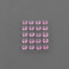 Very Light Pink Sapphire Gem - 0.2ct Round Cabochon (ID: 344724)