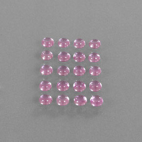 Very Light Pink Sapphire Gem - 0.2ct Round Cabochon (ID: 344850)