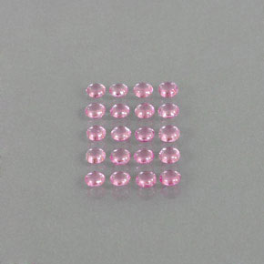 Very Light Pink Sapphire Gem - 0.2ct Round Cabochon (ID: 344942)