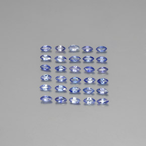 Blue Sapphire Gem - 0.1ct Marquise Facet (ID: 344954)
