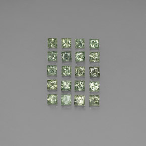 Green Sapphire Gem - 0.2ct Princess-Cut (ID: 345156)