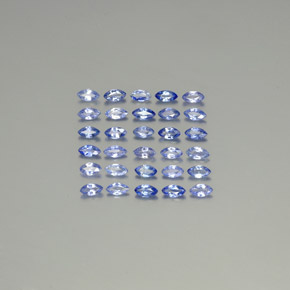 Blue Sapphire Gem - 0.1ct Marquise Facet (ID: 345390)