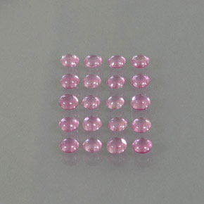 Very Light Royal Purple Pink Zafiro Gema - 0.2ct Cabujón Redondo (ID: 345434)