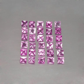 Light Royal Purple Pink Sapphire Gem - 0.1ct Princess-Cut (ID: 345438)