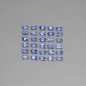 Blue Sapphire Gem - 0.1ct Marquise Facet (ID: 345454)
